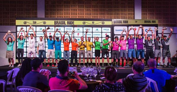 Pódio geral da Brasil Ride (Fabio Piva / Brasil Ride)