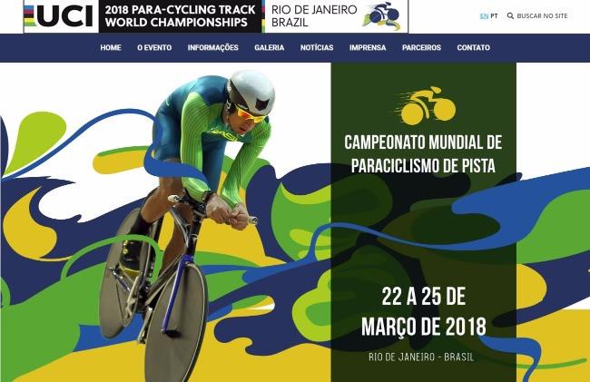 Velódromo do Rio: site oficial do Campeonato Mundial de Paraciclismo de Pista já está no ar