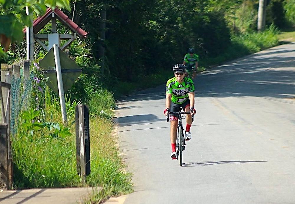 Bernardinho durante o Group Ride do GFNY Brasil em Videiras / Márcio de Miranda - Planeta da Bike