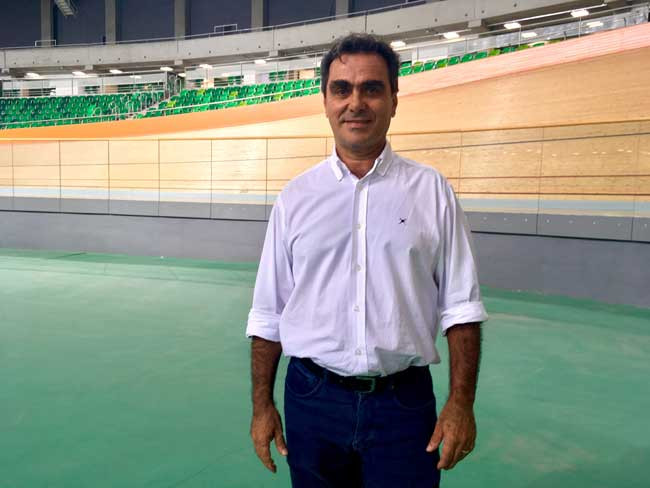 Vasconcelos no Velódromo Olímpico do Rio de Janeiro / Márcio de Miranda