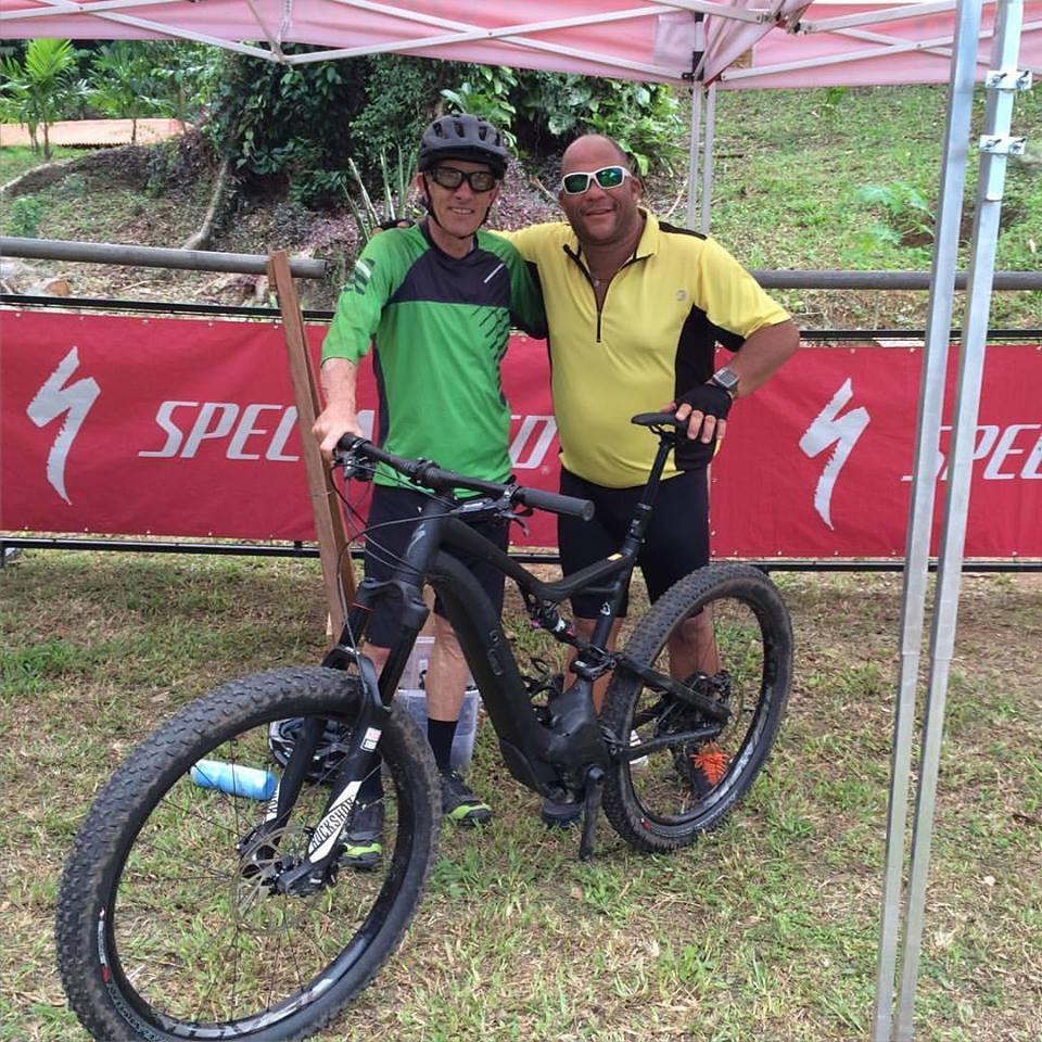 Ned Overend e eu depois do pedal | Márcio de Miranda