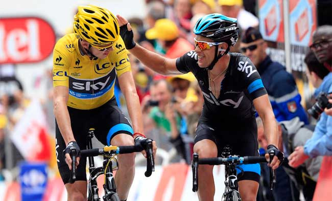 Froome e Porte no Tour de 2015 / Graham Watson