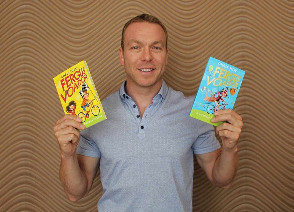 Chris Hoy e seus livros / Divulgação