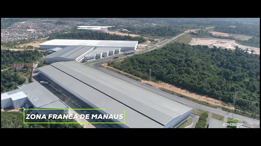 Vista aérea da planta de Manaus da Oggi Bikes / Divulgação