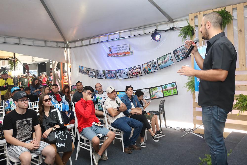 Carlos da Criança Segura no Shimano Fest deste ano / Márcio de Miranda - Planeta da Bike