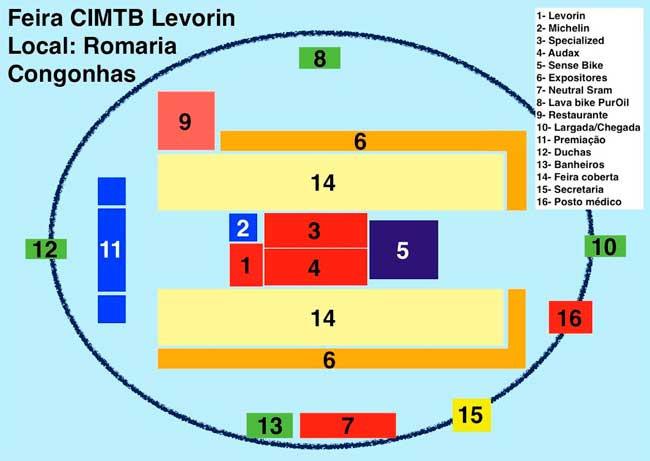 Mapa da arena / Divulgação