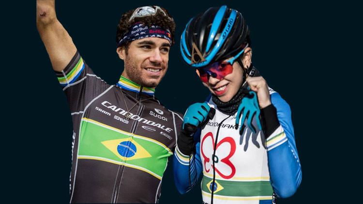 Avancini e Raiza são os destaques da equipe brasileira / Fotomontagem Planeta da Bike