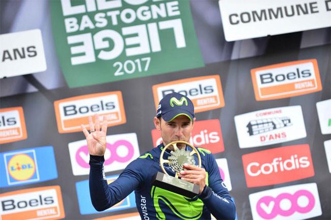 Valverde vence pela quarta vez Liège-Bastogne-Liège / ASO/G.Demouveaux