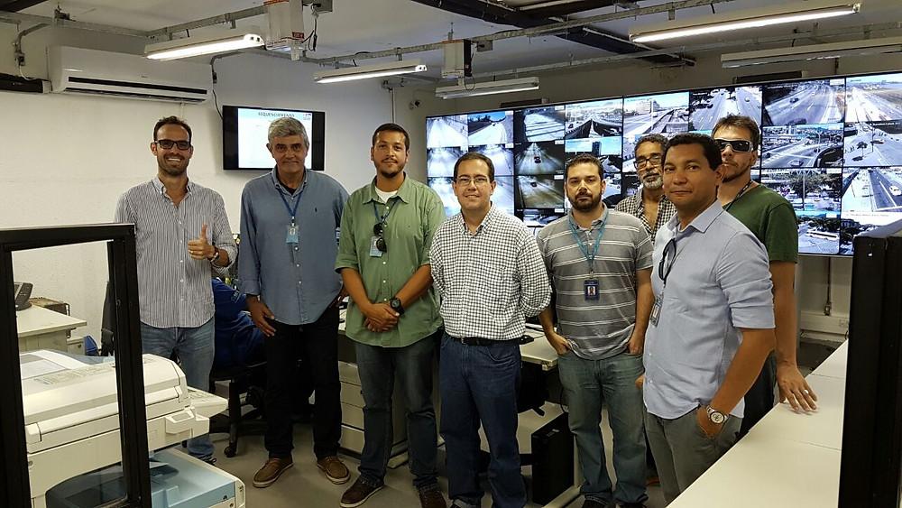 Visita ao centro de operações da concessionária Porto Novo durante a vistoria técnica do Tunel Marcelo Alencar / Divulgação CSC-RJ