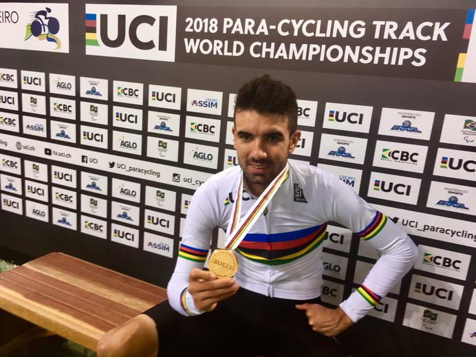 Mundial de Paraciclismo doRio:Lauro Chaman conquista oouro e público enlouquece