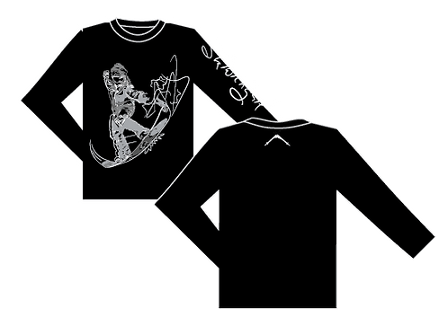 SkiWithGail Snowboarder - 170gr Long sleeve T
