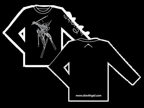 SkiWithGail Power Skiier- 170gr Long sleeve T