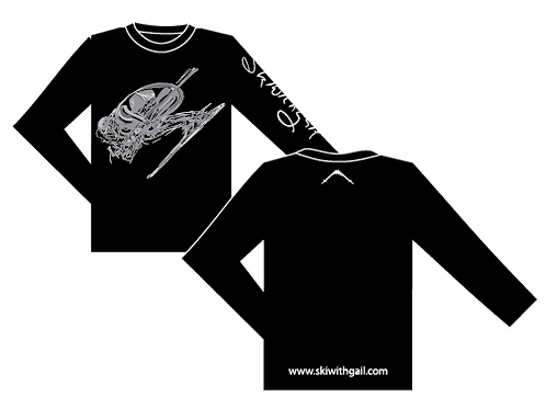 SkiWithGail Downhill Racer - 170gr Long sleeve T