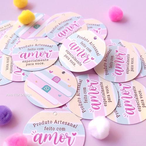 25 Mini Tags Produto Artesanal ( Luxo )