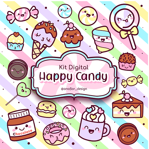 Kit Digital - Happy Candy