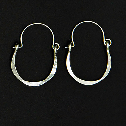 ES9 Sterling Silver 1.25 inch Long Wire Tear Drop Earrings