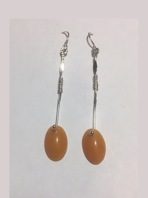 AE14 African Amber Earrings