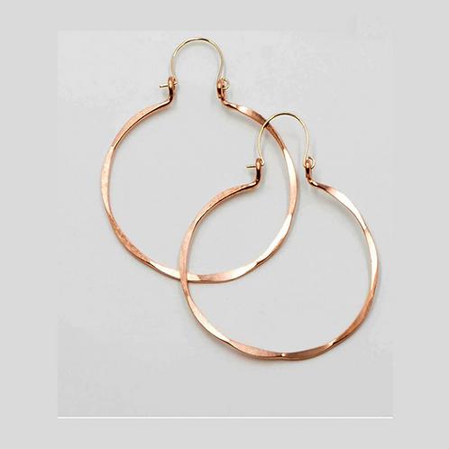 EC3 100% Copper Wire Barrel 2 inch Long Earrings