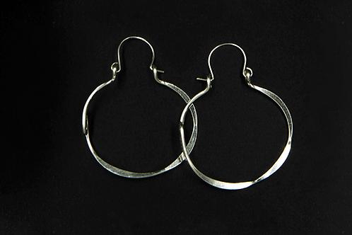 ES29 Sterling Silver 2 inch Long Barrel Zig Zag Earrings
