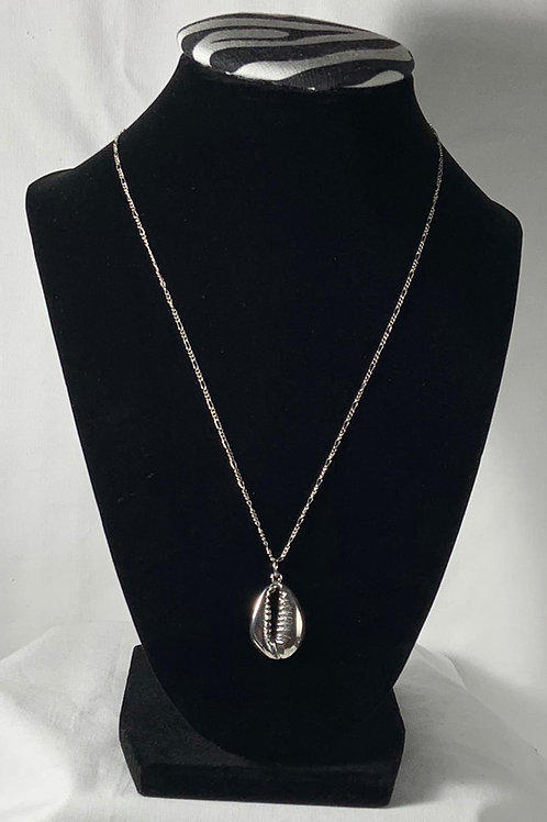 N41 Sterling silver solid Cowrie Shell Necklace