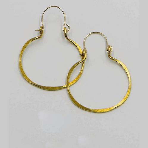 EB4 100% Brass Wire Barrel 1.5 inch Long Earring