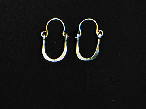 ES12 Sterling Silver 1 inch Long Wire Tear Drop Earrings