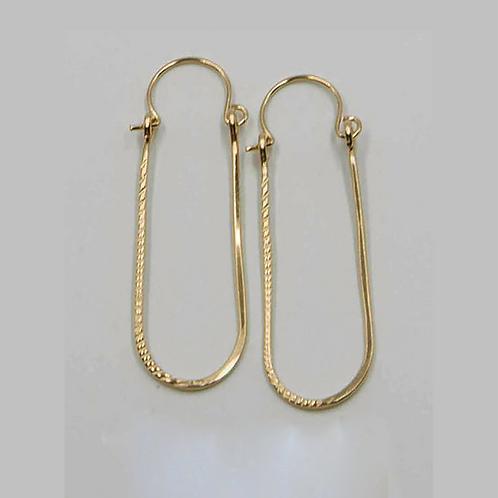 EG11 14 K Gold Filled Wire 1.5 inch Tear Drop Earrings