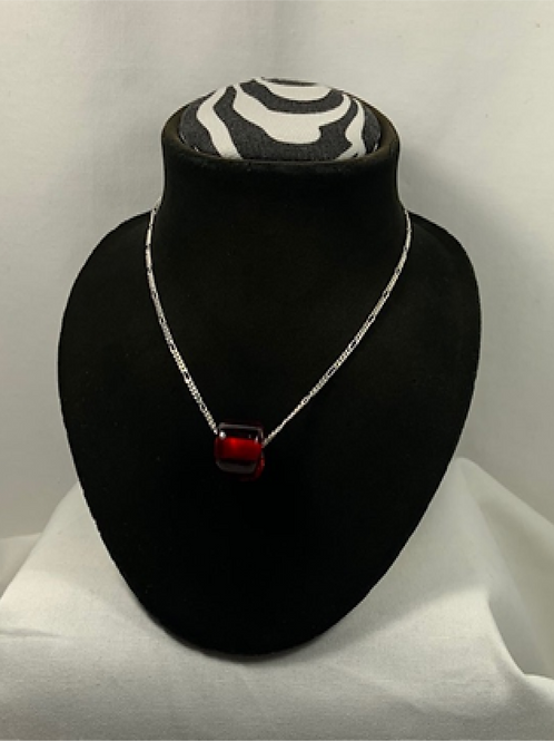 N13 Cherry Amber necklace with Sterling silver chain