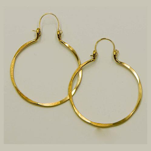 EB3 100% Brass Wire Barrel 2inch Long Earring