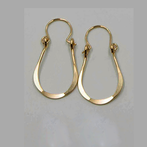 EG10 14 K Gold Filled Wire 1inch Tear Drop Earrings