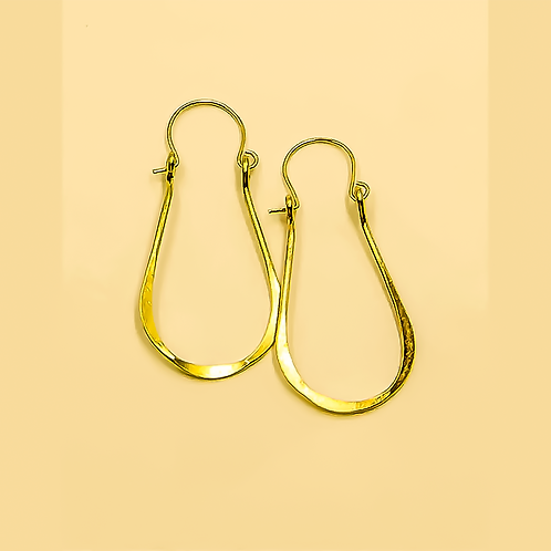 EB10 100% Brass Wire Tear Drop 1.5 inch Long Earring
