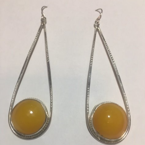 AE26 African Amber Earrings