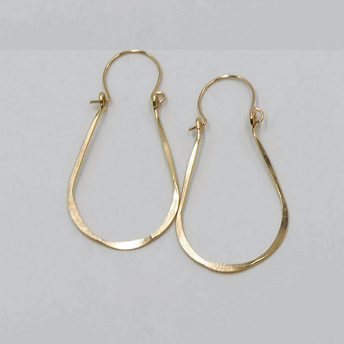 EG7 14 K Gold Filled Wire 2 inch Tear Drop Earrings