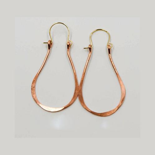 EC10 100% Copper Wire Tear Drop 1.25 inch Long Earrings