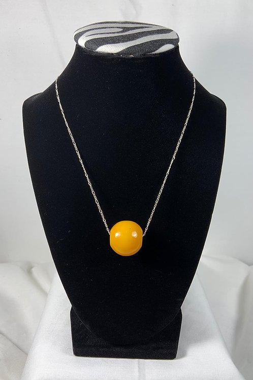 N15 Amber Sterling silver 16 inch Chain
