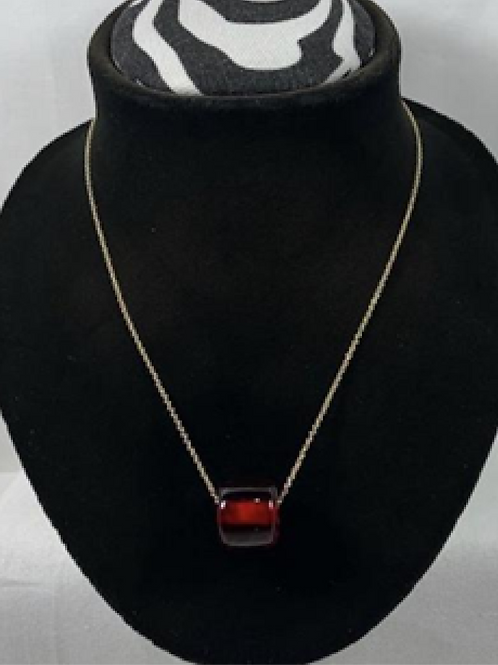 N12 Cherry Amber 14k Gold filled chain necklace