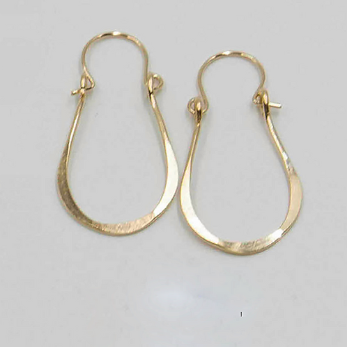 EG9 14 K Gold Filled Wire 1.25 inch Tear Drop Earrings