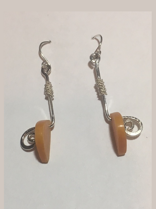 AE6 African Amber Earrings