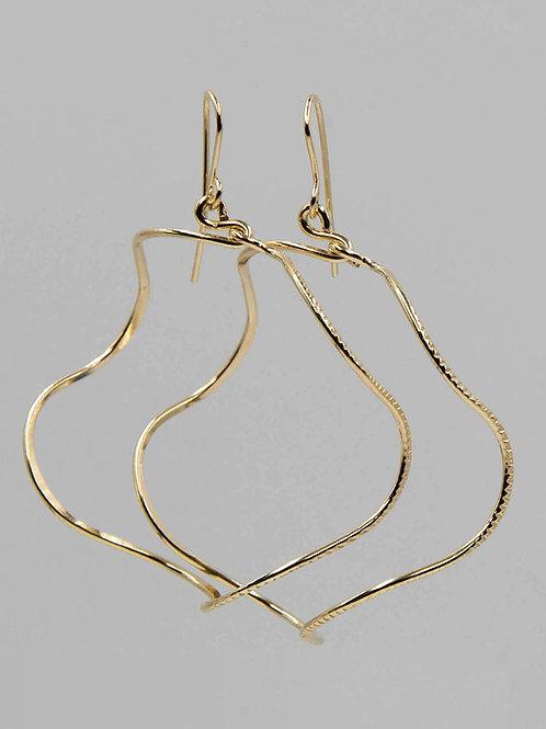 EG1 14 K Gold Filled Wire 2.5 inch Barrel Earrings