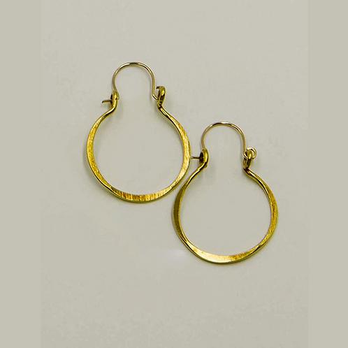 EB5 100% Brass Wire Barrel 1 inch Long Earring