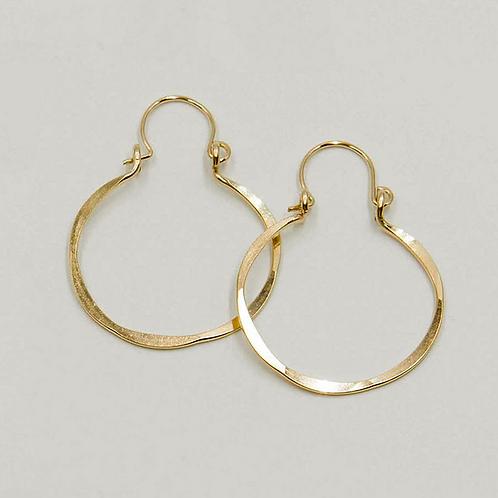 EG4 14 K Gold Filled Wire 1.25 inch Barrel Earrings