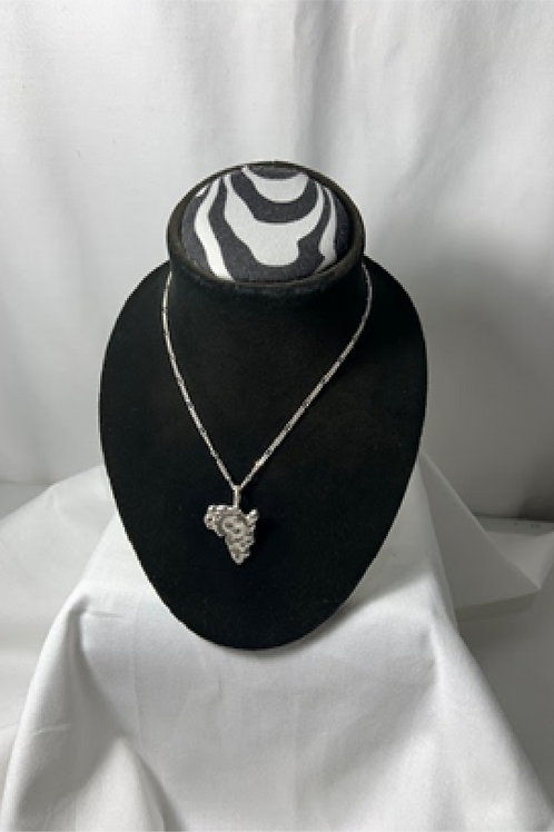 N42 Sterling silver Solid Africa pendant Necklace