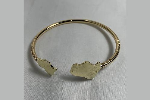BB15 Africa 100% Brass 8 Gauge Bracelets