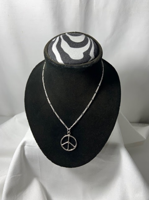 N31 Sterling Silver Peace Pendant Necklace