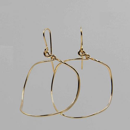 EG2 14 K Gold Filled Wire 2 inch Barrel Earrings