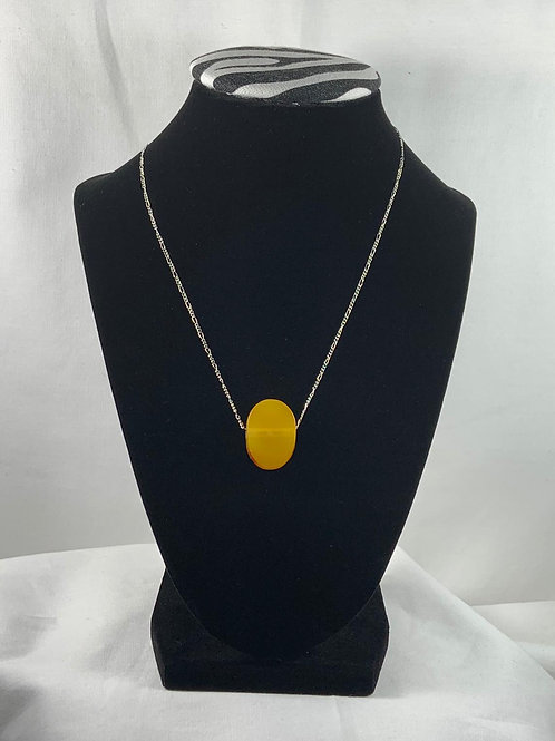 N10 Butterscotch Amber 18 inch Necklace with Sterling silver chain