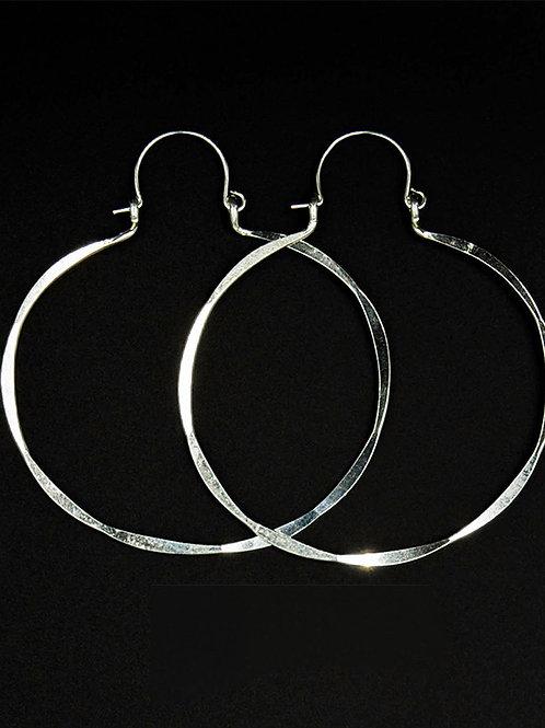 ES14 Sterling  Silver 2.5 inch Long Wire Barrel Earrings