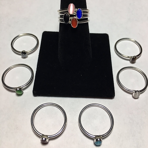 RS38 Sterling Silver Rings with (6 x 4 inch Stones) $25 each