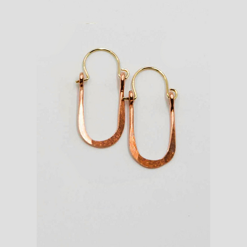 EC11 100% Copper Wire Tear Drop 1 inch Long Earrings