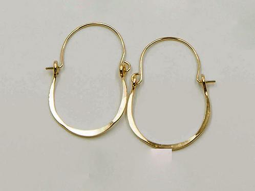 EG5 14 K Gold Filled Wire 1inch Barrel Earrings